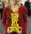 Letras 3D -  You are my sunshine - Amarelo