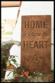 Quadros -  Home is where the heart is - Verniz Venge